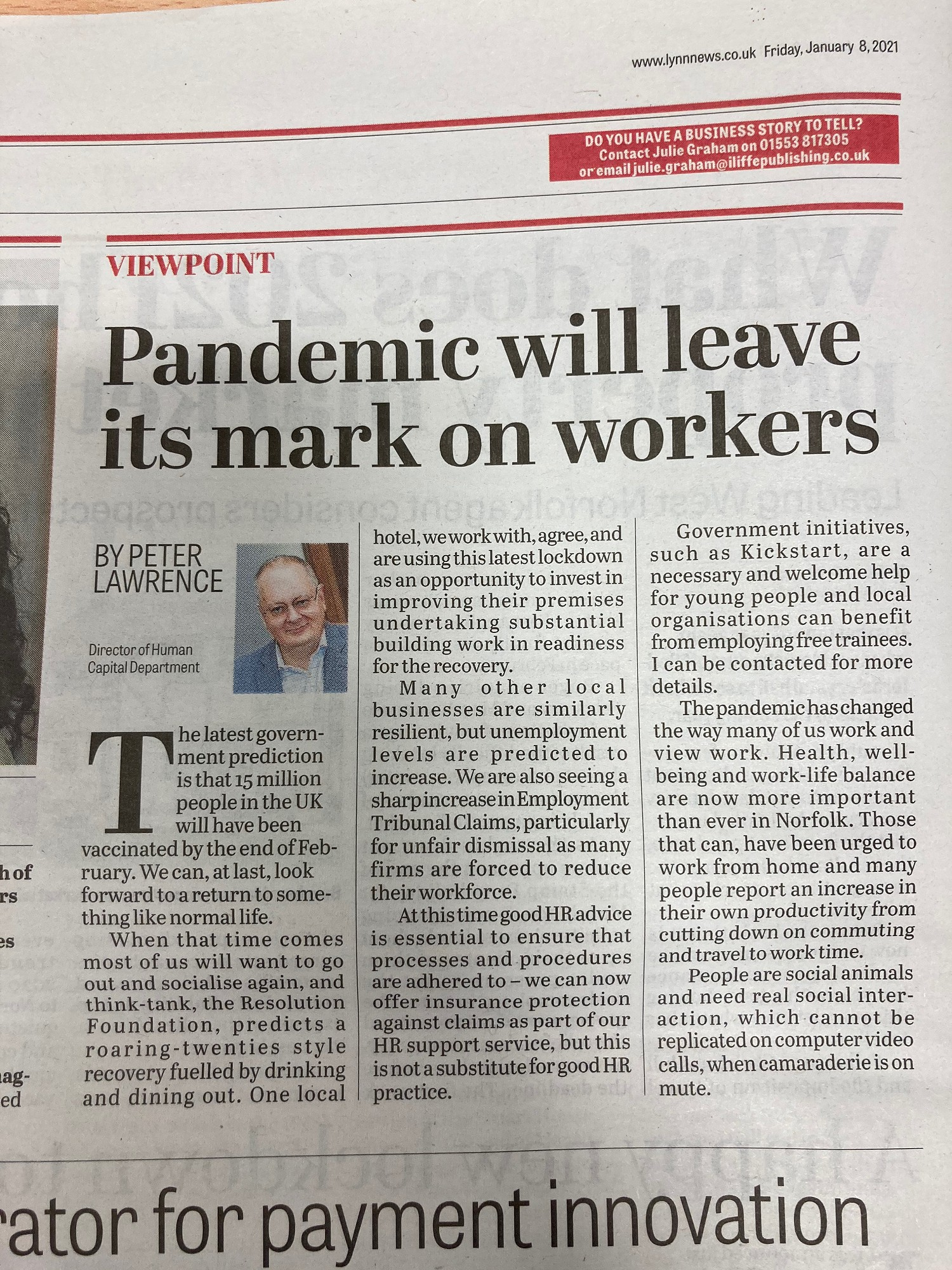 Good HR Practice more important than ever in Pandemic